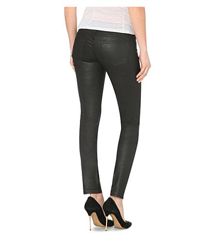 THE KOOPLES Leather-look skinny jeans (Black
