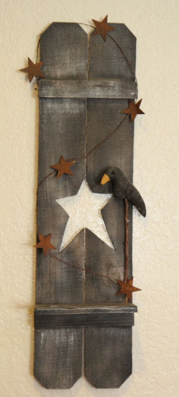 Hey, I found this really awesome Etsy listing at https://www.etsy.com/listing/250999492/primitive-black-shutter-shelf-with-star #listbuilding #PhillipGHudson1
