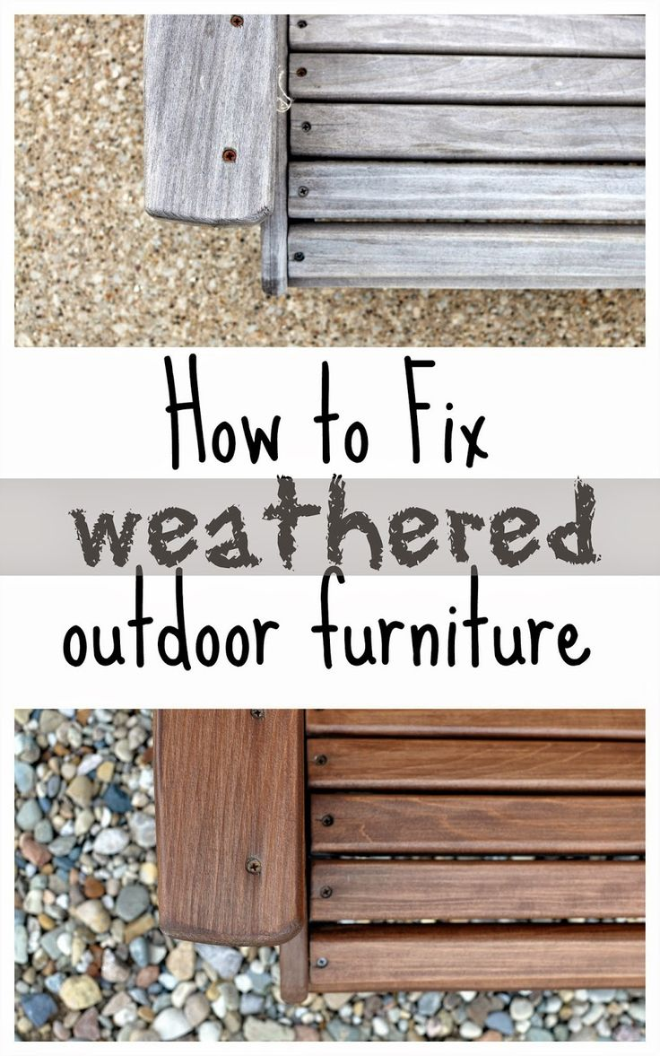 How To Weatherproof Outdoor Furniture : Fixing The Adirondack Chairs
