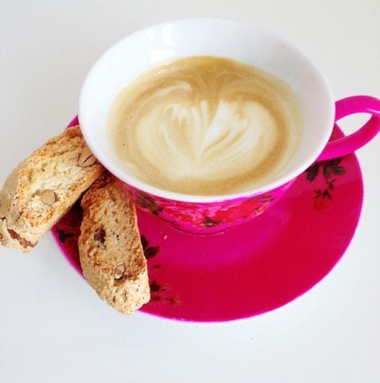 Cappuccino with cantuccini #cantuccini