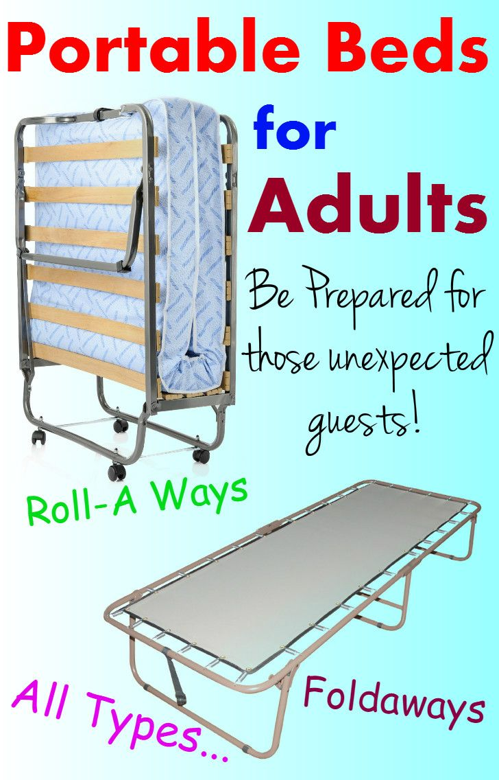 After all my poking around I came up with this Huge LIST of the Best PORTABLE BEDS for ADULTS.  FREE shipping is available...