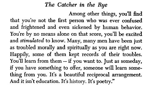 the contemporary enlightened one in catcher in the rye by jd salinger If you liked catcher in the rye more than your average novel, then you probably have considered reading franny and zooey it's one of very few books that jd salinger wrote because he kind of turned into a weird old recluse.