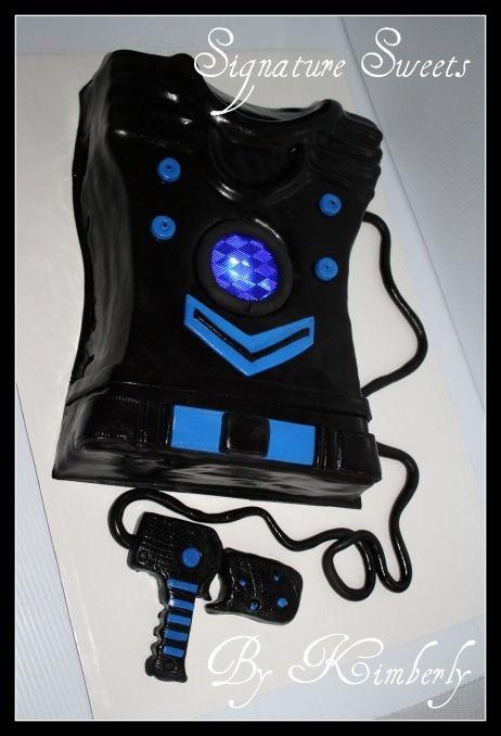 Laser Tag Vest And Gun Cake Pinterest