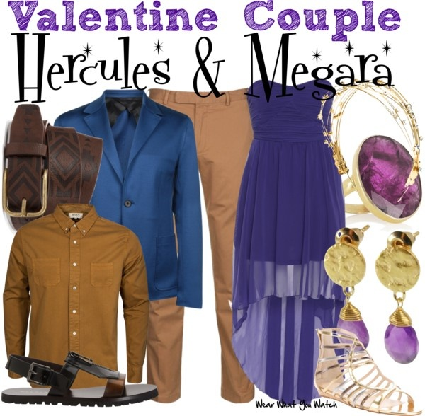 Inspired by Tate Donovan (voice) and Susan Egan (voice) as Hercules and Meg in Disney's 1997 animated film Hercules.
