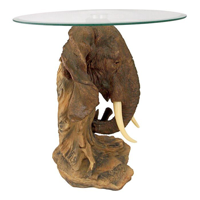 Design Toscano Lord Earl Houghton S Trophy Elephant End Table Reviews Wayfair Design Toscano Design Glass