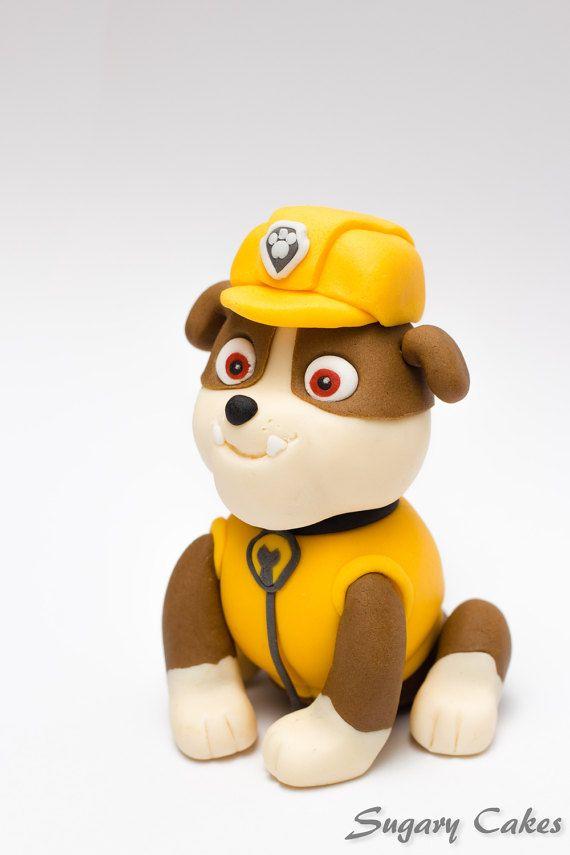 Il s agit d un caract re comestible de patrouille patte vendre le chien est fait de fondant - Pas de patrouille ...