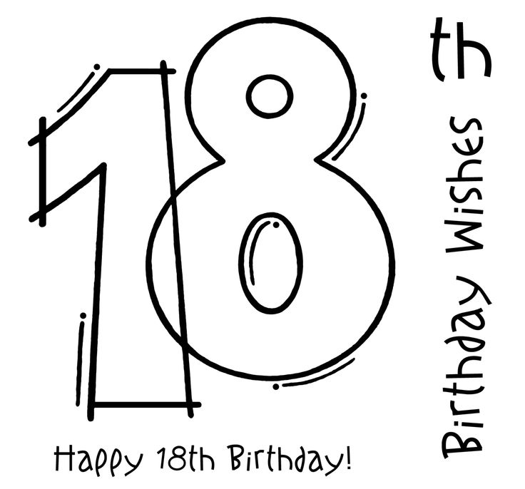 Woodware FRS127 18th Birthday Clear Magic Single Stamp