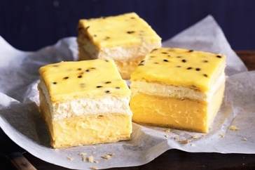 VANILLA SLICE WITH PASSIONFRUIT ICING ~ recipe Kerrie Ray ~ pic Steve brown/NewsLifeMedia