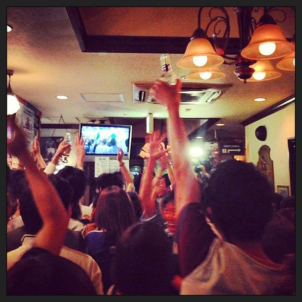 """I stumbled in here having gotten turned around after taking a train to Ebisu Station. The staff was very friendly, loved the beer selection, and the owner went out of her way to welcome me."" Find more best places to watch the World Cup in Japan: http://pin.it/uBgdbAh"