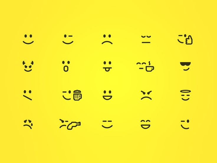 Smiley Icons Set by mikylangela