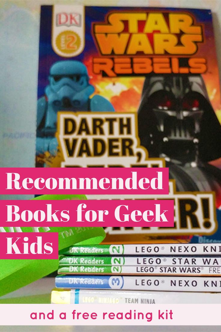 Check out this Recommended Book List for Geek Kids, and get your free reading kit too!