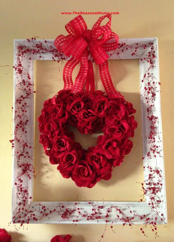 Shabby Chic Valentine Fireplace