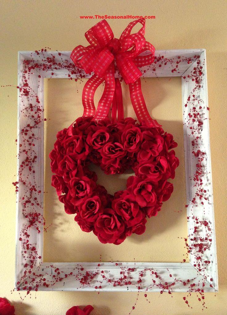 Valentine heart wreath and frame