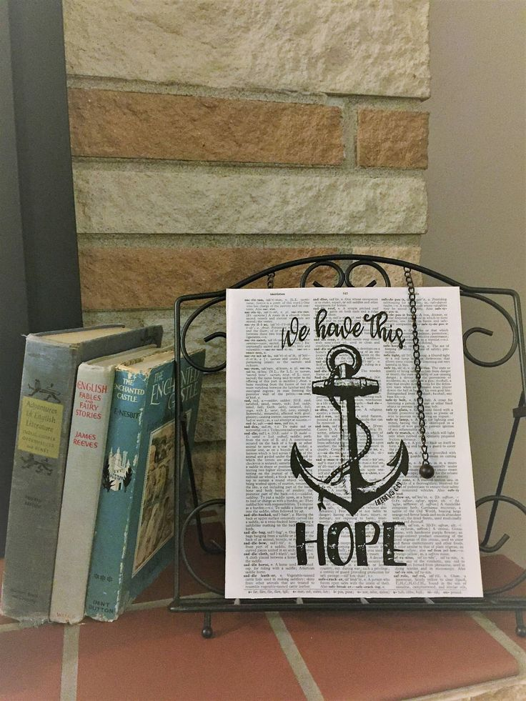 We Have This Hope - Hebrews 6:19 - Dictionary Page Print - Framed Wall Art - Hope - Anchor - FREE SHIPPING! by 15by13Designs on Etsy