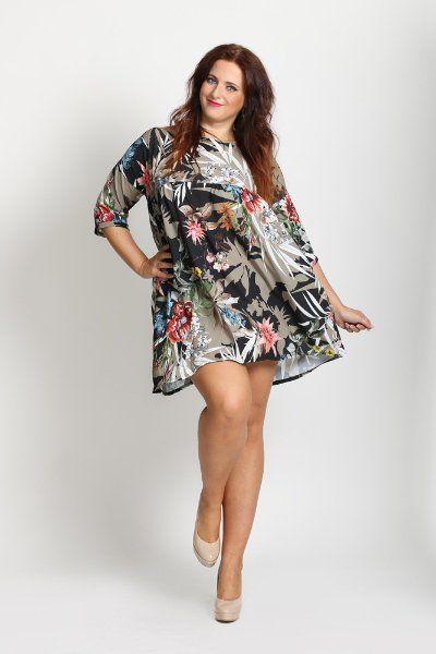 Květované šaty  P31 > XXL
