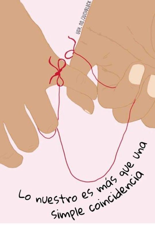 Hilo Rojo Tarjetas Pinterest Frases Love Quotes Y Love