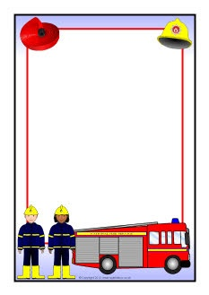 Fire Service A4 page borders (SB8927) - SparkleBox