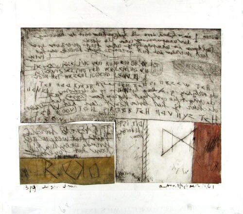 Ohne Titel (2 works, different sizes) by Anton Heyboer