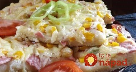 Na stole o 30 minút: Falošná pizza z bleskového cesta!