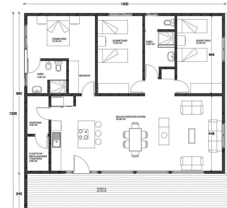 MODERNA 144 m2 entramado ligero, Casa en Sistema de entramado ligero