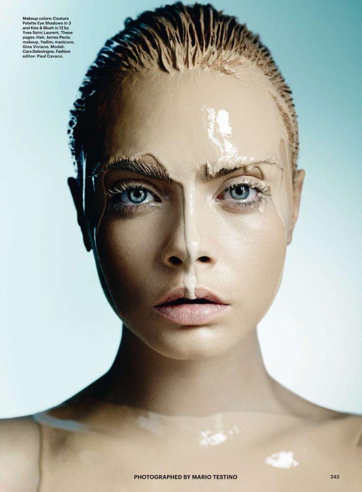 photo shoot | visual optimism | cara delevingne by mario testino for allure october 2014