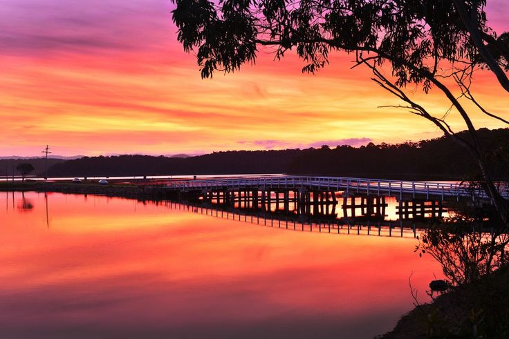 Wallaga Lake on Fire