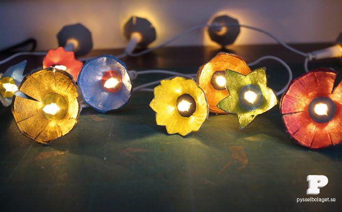 DIY: egg carton lights Craft & DIY Pinterest Creative, String lights and Offices