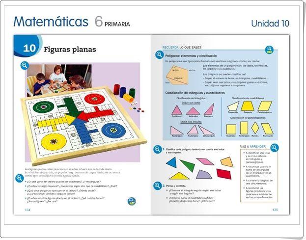 """Unidad 10 de Matemáticas de 6º de Primaria: """"Figuras planas"""""""