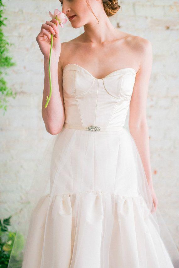 Wedding Sash Rhinestone Clasp Bridal Belt Velvet Dress Boho Glam