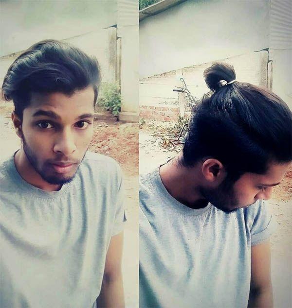 Short Hair Men S Ponytail Best Men S Ponytail Hairstyles Medium Hair Styles Mens Hairstyles Medium Thick Hair Styles Medium