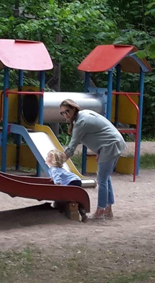 Princess Madeleine of Sweden with Prince Nicolas.