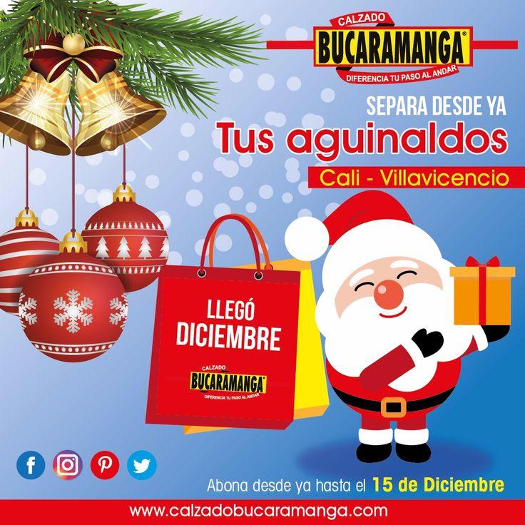 #Villavicencio y #Cali, sin excusas para esta #Navidad, desde ya puedes apartar tu #aguinaldo. Con Calzado Bucaramanga #regala algo que diferencie su paso al andar y te recordarán por siempre. www.calzadobucaramanga.com webmaster@calzadobucaramanga.com