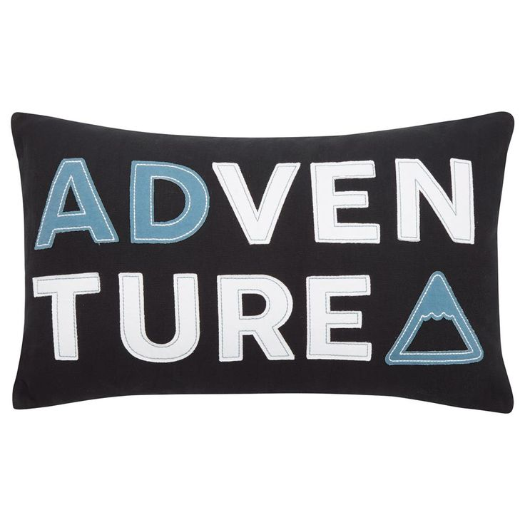"Adventure Decorative Pillow 13"" X 20"""