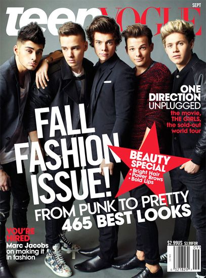 """One Direction looks absolutely adorable on the cover of """"Teen Vogue."""""""