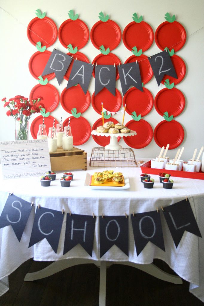 paper plate apples as backdrop