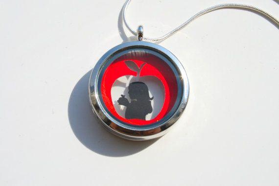 Snow White Papercut Pendant  Version 2  Fairytale Necklace