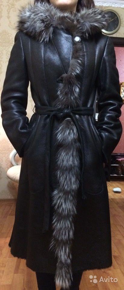Дубленка черная женская в идеальном состоянии — фотография №5