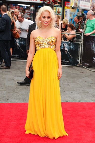 Kimberly Wyatt arriving for the premiere of 'The Wolverine' at Empire Leicester Square in London - July 16, 2013 - Photo: Runway Manhattan/Featureflash