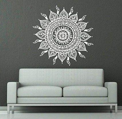 Indian diseño de Mandala para pared de diseño de phyllida coroneo geométrico de Yoga Namaste vinilo adhesivo diseño de flores…