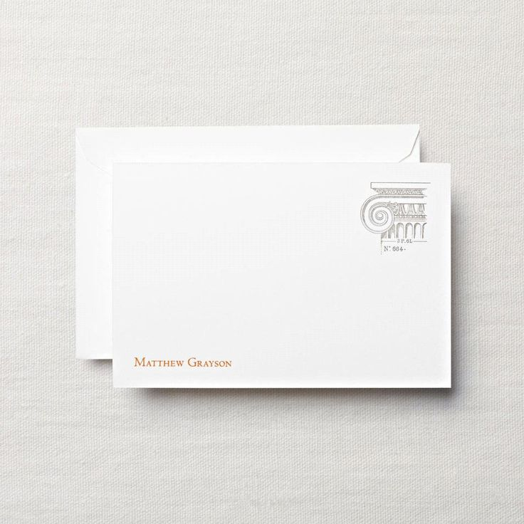 business note card