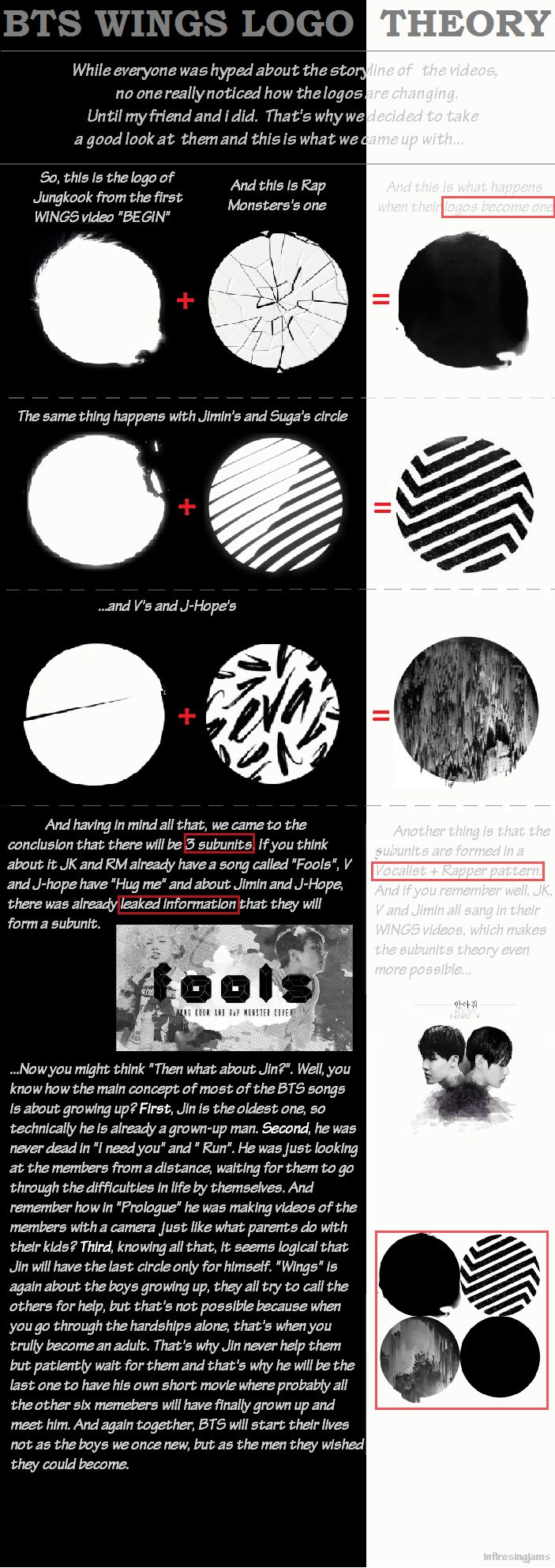 For one, I actually did notice that the logo was changing, but I just nvr took time to figure it out for myself. Also, this makes sense but what I find weird is that, I've previously heard the connections are supposed to be RapMon/V, Suga/JK, and J-Hope/Jimin. But who knows? Maybe all will be revealed after their comeback.
