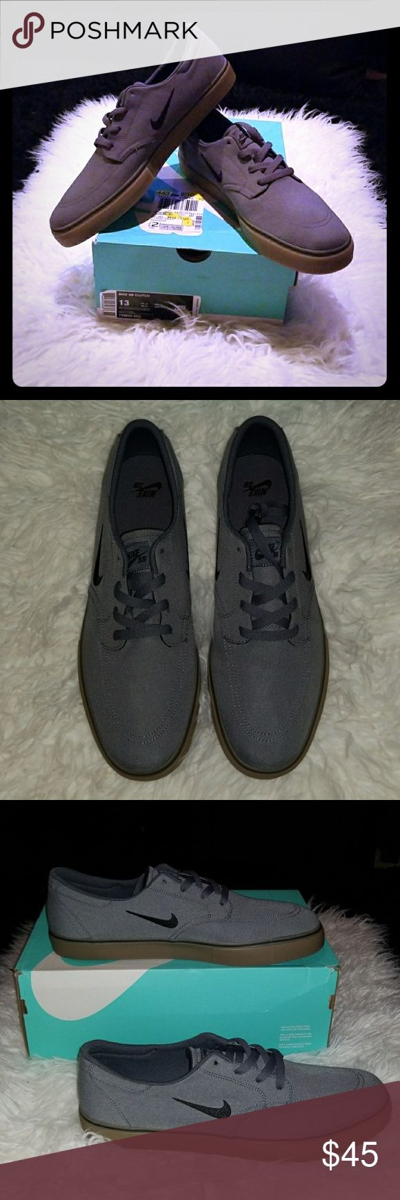 Brand New Nike SB Portmore Skate Shoes Brand new in box Nike men's size 13 SB clutch Portmore Li skate shoe. Dark grey black and light brown. Nike Shoes Athletic Shoes