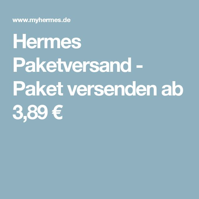 Hermes Paketversand - Paket versenden ab 3,89 €