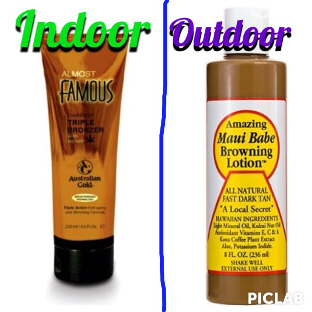 Best indoor and outdoor tanning lotions out there.  Get the most out of your tanning with these products with a nice fast deep dark tan.  Even those who have a hard time getting a tan will see results!!