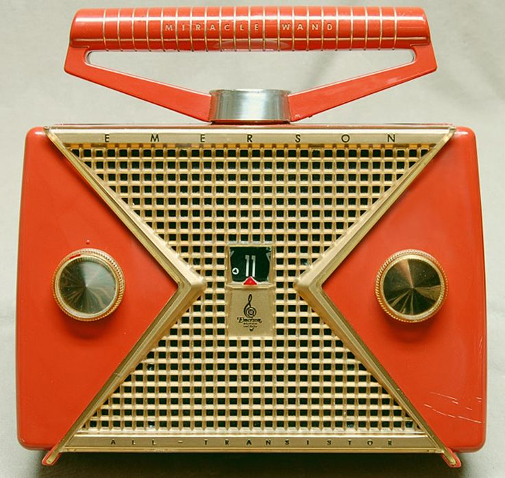 vintage radio/camera collection for living room.  1956 Emerson 847 Transistor Radio