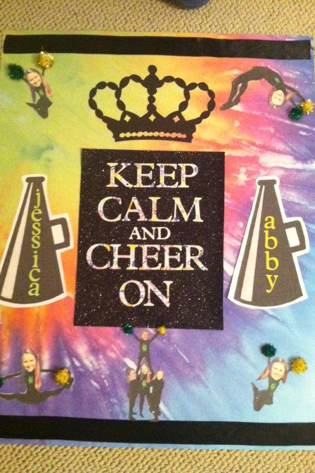 Cheer camp door decoration idea cheer pinterest for Cheerleading decorations