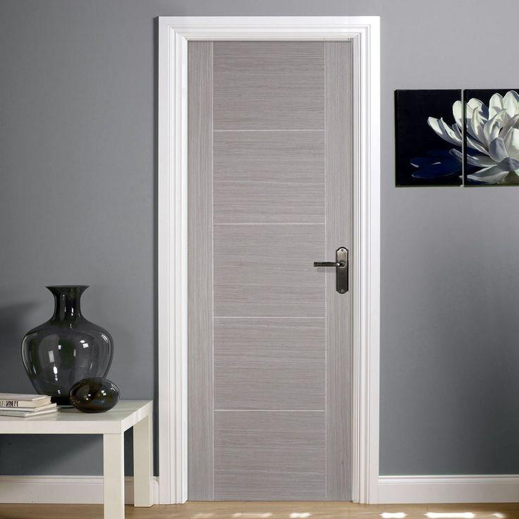 Door Set Kit, Light Grey Vancouver Door - Prefinished. #unfinisheddoorsetkit #moderndoorsetkit #moderndoor
