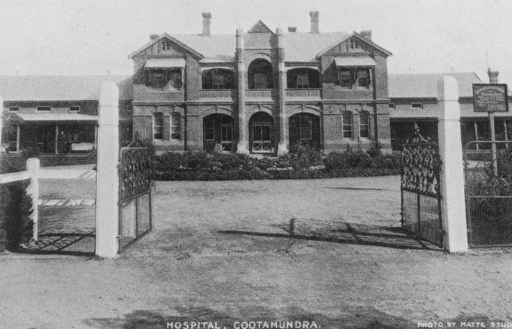 Cootamundra District Hospital. Now used for Government health offices. I began nursing training here in 1966 with Matron Margo Smith.