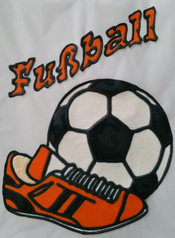 Fussball mit Fussballschuhe