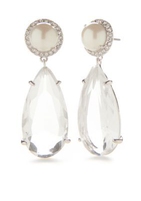 Kate Spade New York  Silver-Tone Glitz And Glam Drop Earrings - Cream - One Size